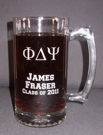 Personalized Engraved Drinking Jar