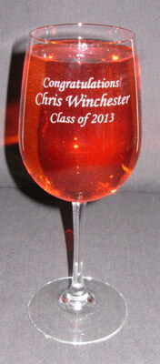 Personalized Engraved Graduation Vina Grand Wine Glass