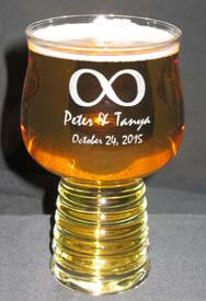 Personalized Engraved Hard Cider Beer Glass