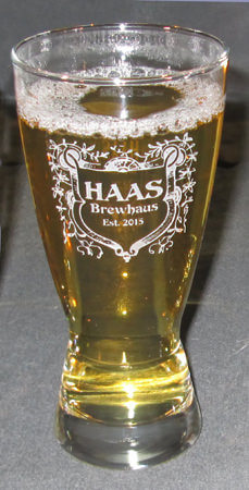 Personalized Hourglass Engraved Pilsner