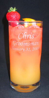 Personalized Engraved Impressions 16 oz Beverage Glass