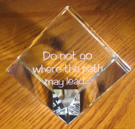 Personalized Engraved Crystal Large Cube