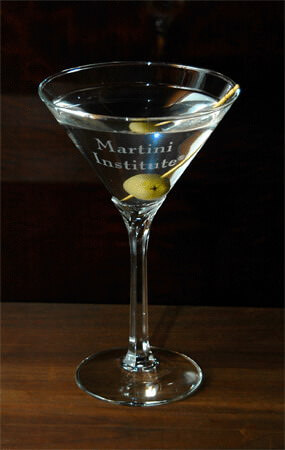 Personalized Engraved Domaine Martini Glass