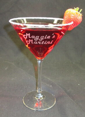 Personalized Engraved Midtown Martini Glass