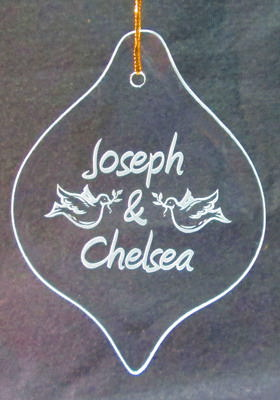 Personalized Engraved Balloon Ornament/Suncatcher