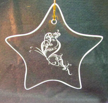 Personalized Engraved Star Ornament/Suncatcher