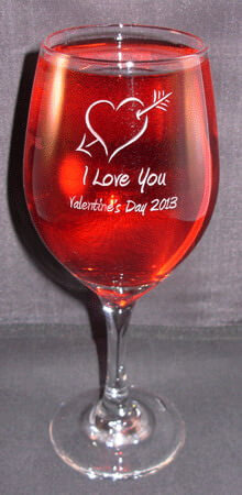 Personalized Engraved Valentine's Perception Wine Glass