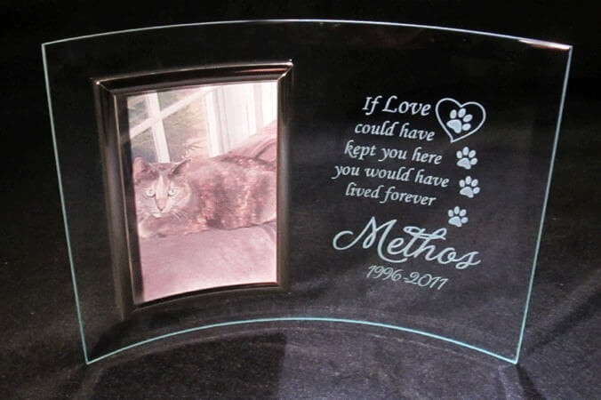 "Personalized Engraved 3"" x 5"" Pet Memorial Frame"