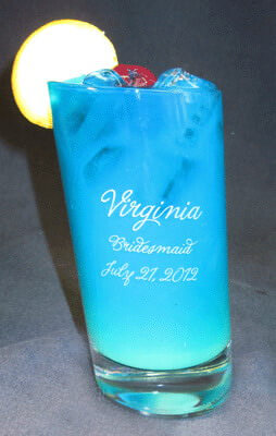 Personalized Engraved Pisa Beverage Glass