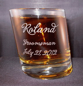 Personalized Engraved Pisa Double Old Fashioned