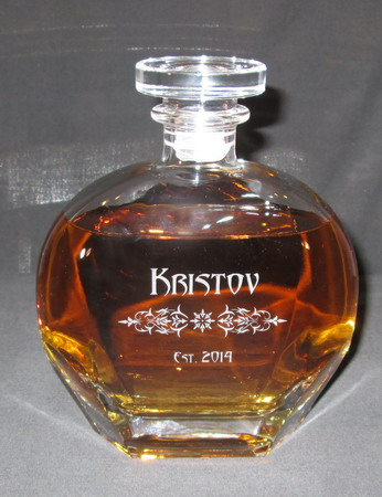 Personalized Engraved Puccini Whiskey Decanter