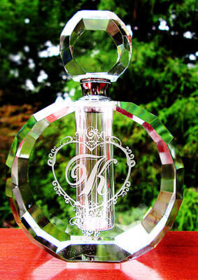 Personalized Engraved Round Crystal Perfume Bottle