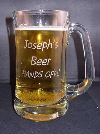 Personalized Scandinavian Engraved Beer Mug