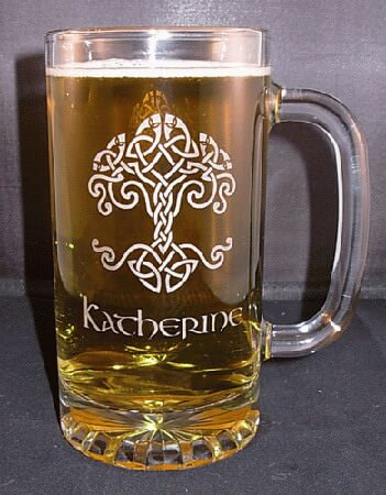 16 oz Engraved Tankard Beer Mug