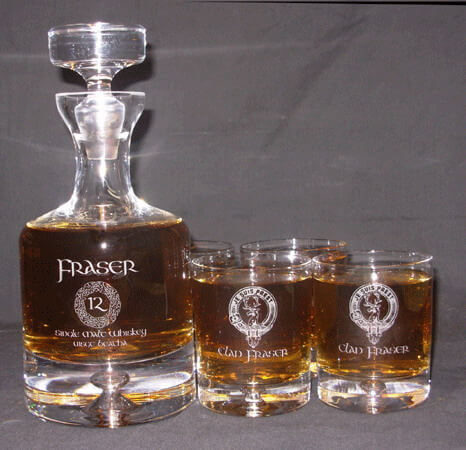 Personalized Engraved Lead Free Crystal Taylor Whiskey Decanter Set
