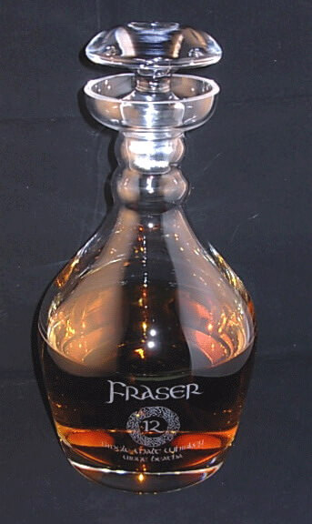 Personalized Engraved Lead Free Crystal Thomas Jefferson Whiskey Decanter