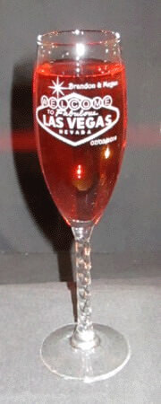 Personalized Engraved Vegas Revolution Champagne Flute