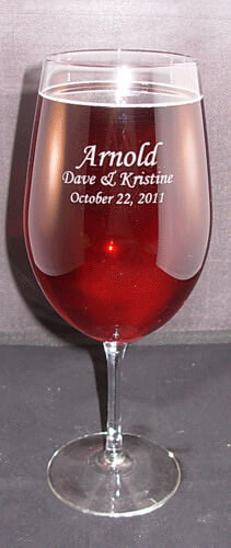Personalized Engraved Vina Briossa Wine Glass