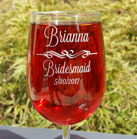 Personalized Engraved Vina Grand Wine Glass