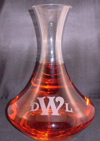 Personalized Engraved Vina Wine Decanter