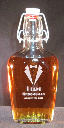 Personalized Engraved 8.5 oz Whiskey Flask