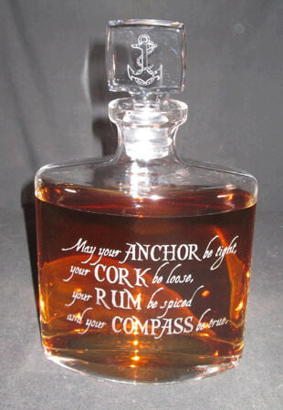 Personalized Engraved Lead Free Crystal Whitney Whiskey Decanter