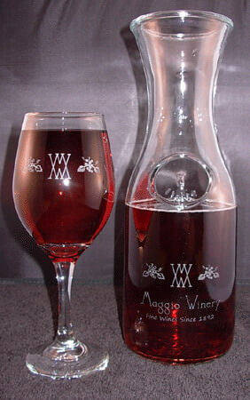 Personalized Engraved Wine Decanter Set