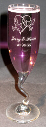 Personalized Engraved Z-Stem Champagne Flute