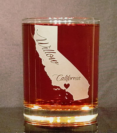 Personalized California Whiskey Glass