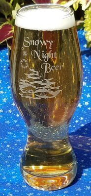 Personalized 16 oz Engraved Craft Beer Glass