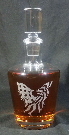 Personalized Engraved Craft Whiskey Decanter