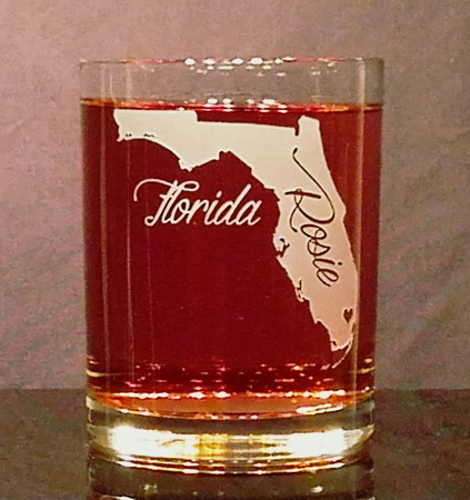 Personalized Florida Whiskey Glass