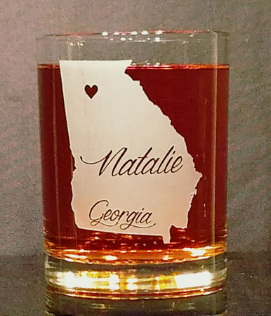 Personalized Georgia Whiskey Glass