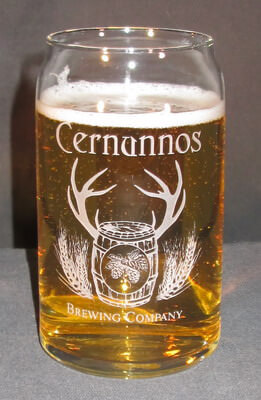 16 oz Glass Engraved Beer Can