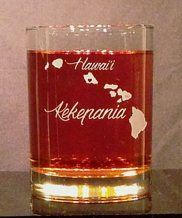 Personalized Hawaii Whiskey Glass