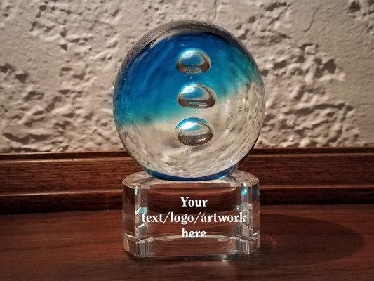 Personalized Engraved Livorno Art Glass Award