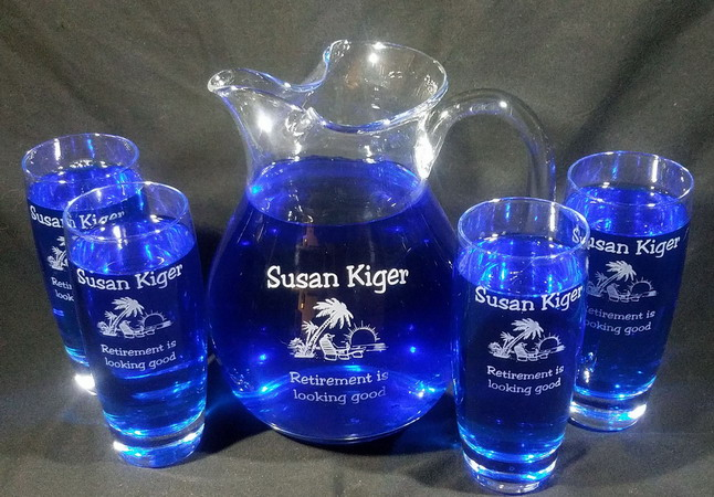 Personalized Engraved Michelangelo Pitcher Set