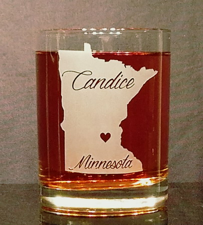 Personalized Minnesota Whiskey Glass