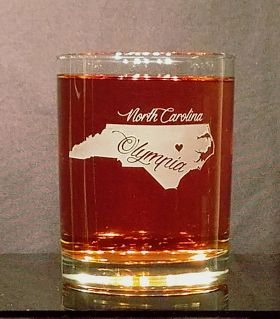 Personalized North Carolina Whiskey Glass
