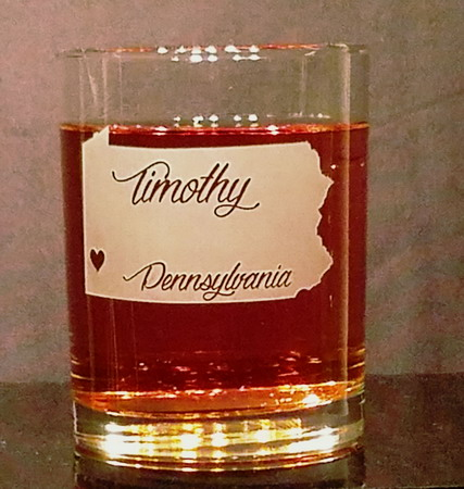 Personalized Pennsylvania Whiskey Glass