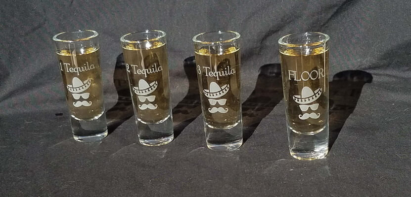 Personalized Engraved Tequilla Shooter Set