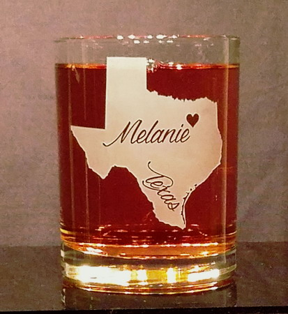 Personalized Texas Whiskey Glass