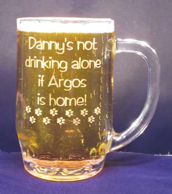 Not Drinking Alone Personalized Thumbprint Mug