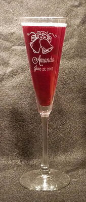 Personalized Engraved Trumpet Champagne Flute