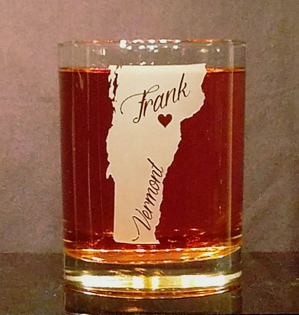 Personalized Vermont Whiskey Glass