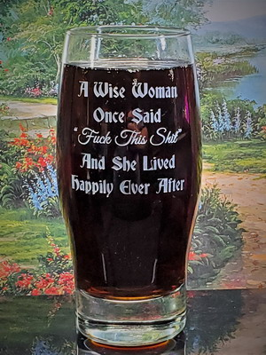 Personalized Engraved Wise Woman Beverage Glass